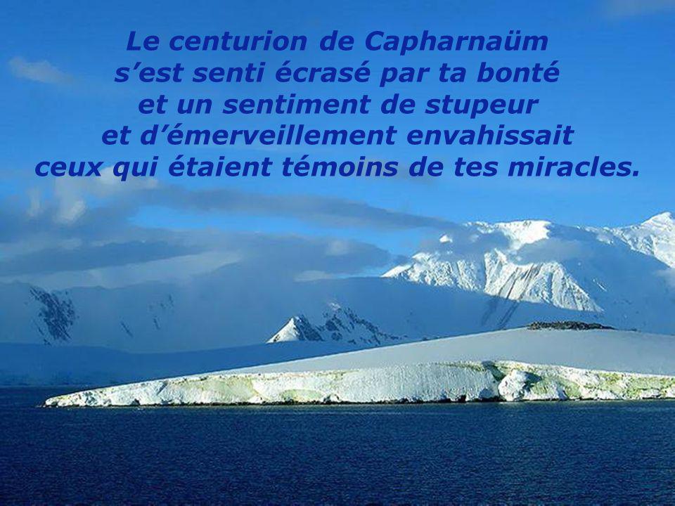 Le centurion de Capharnaüm s'est senti écrasé par ta bonté