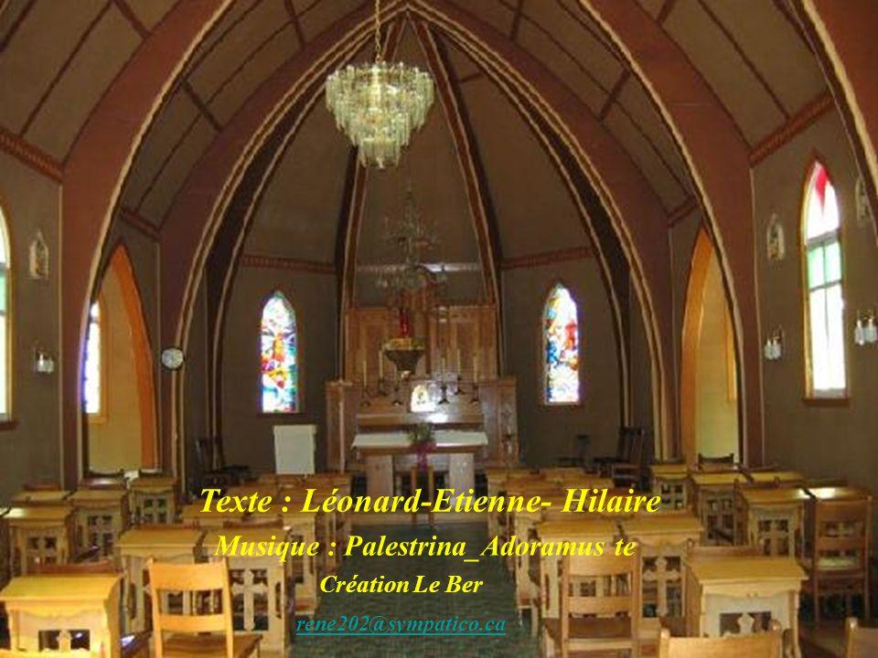 Texte : Léonard-Etienne- Hilaire Musique : Palestrina_Adoramus te