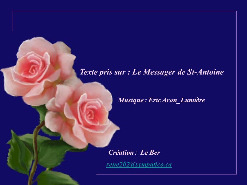 Texte pris sur : Le Messager de St-Antoine