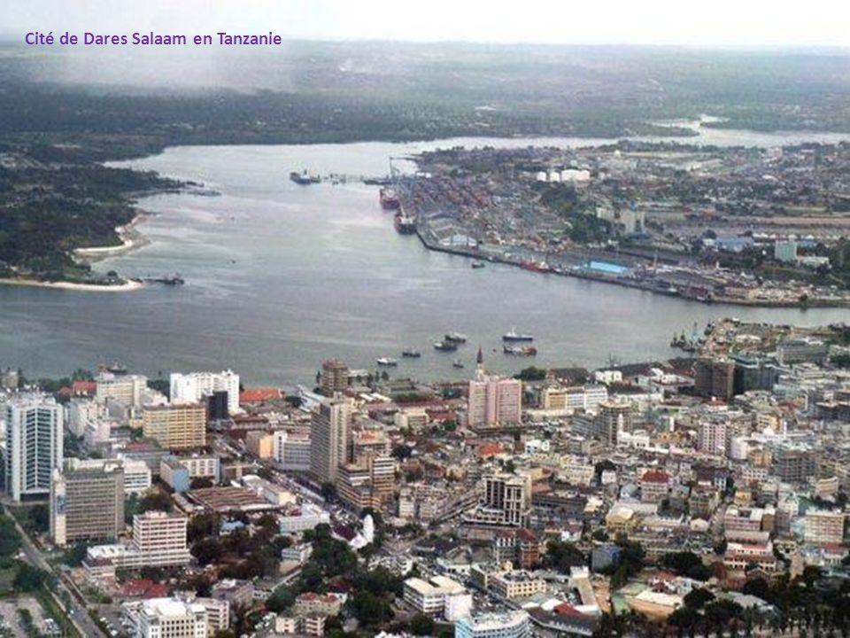 Cité de Dares Salaam en Tanzanie