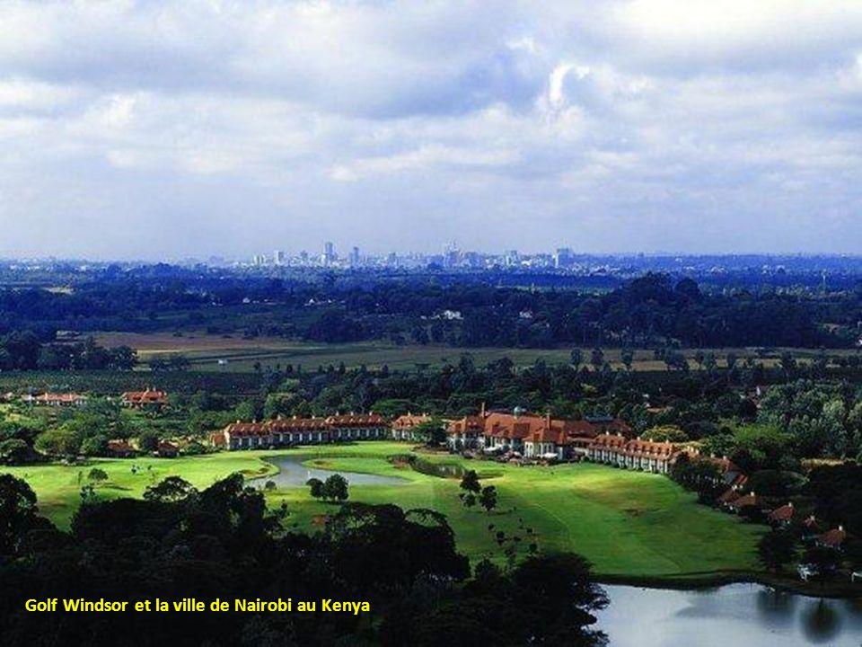 Golf Windsor et la ville de Nairobi au Kenya