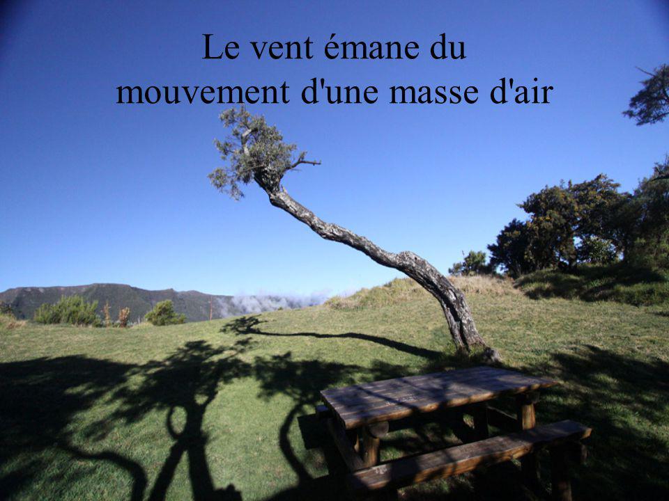 Le vent émane du mouvement d une masse d air