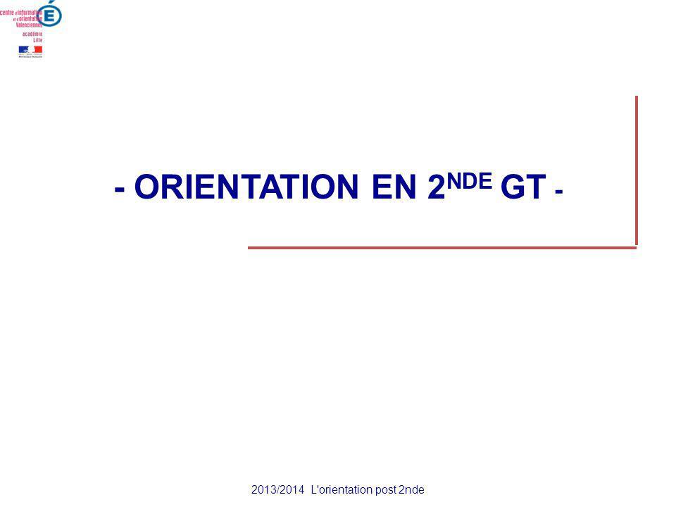 - ORIENTATION EN 2NDE GT -
