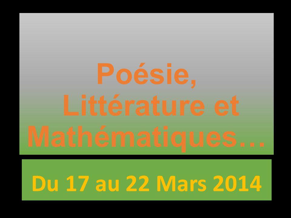 Poésie, Littérature et Mathématiques…