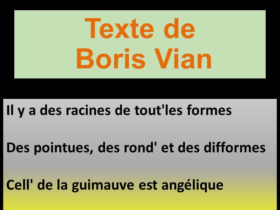 Texte de Boris Vian