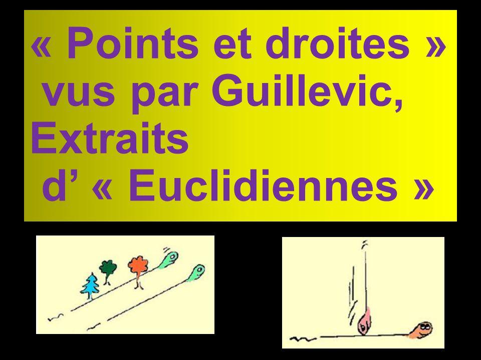 « Points et droites » vus par Guillevic, Extraits d' « Euclidiennes »