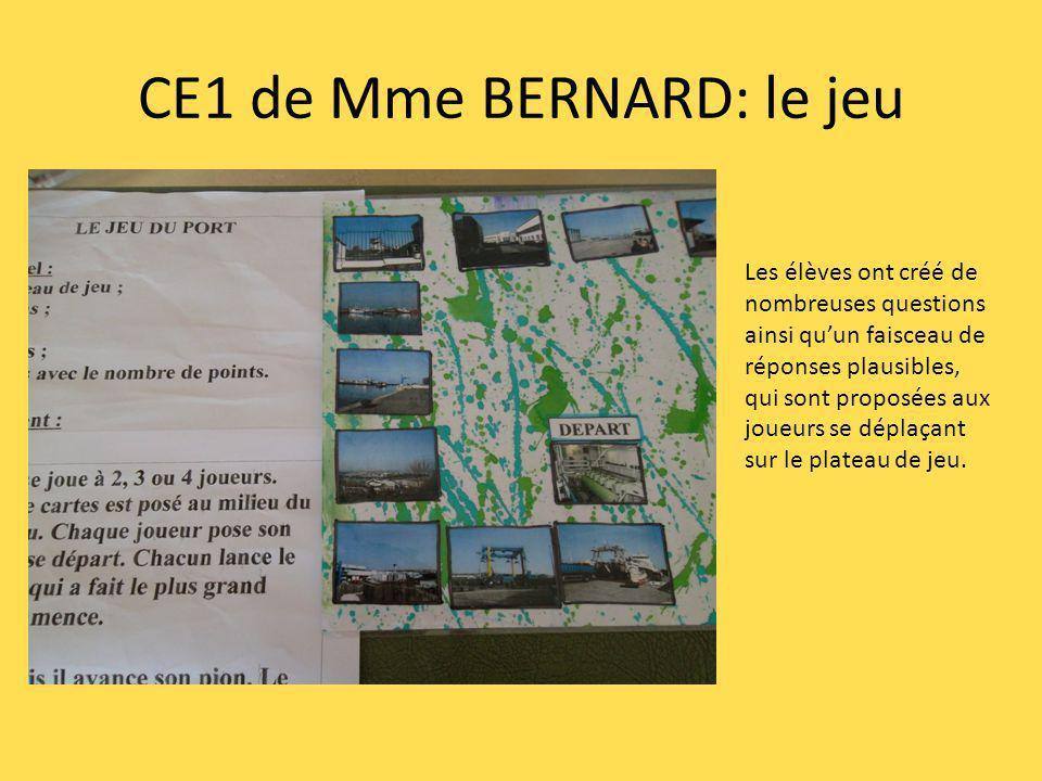 CE1 de Mme BERNARD: le jeu