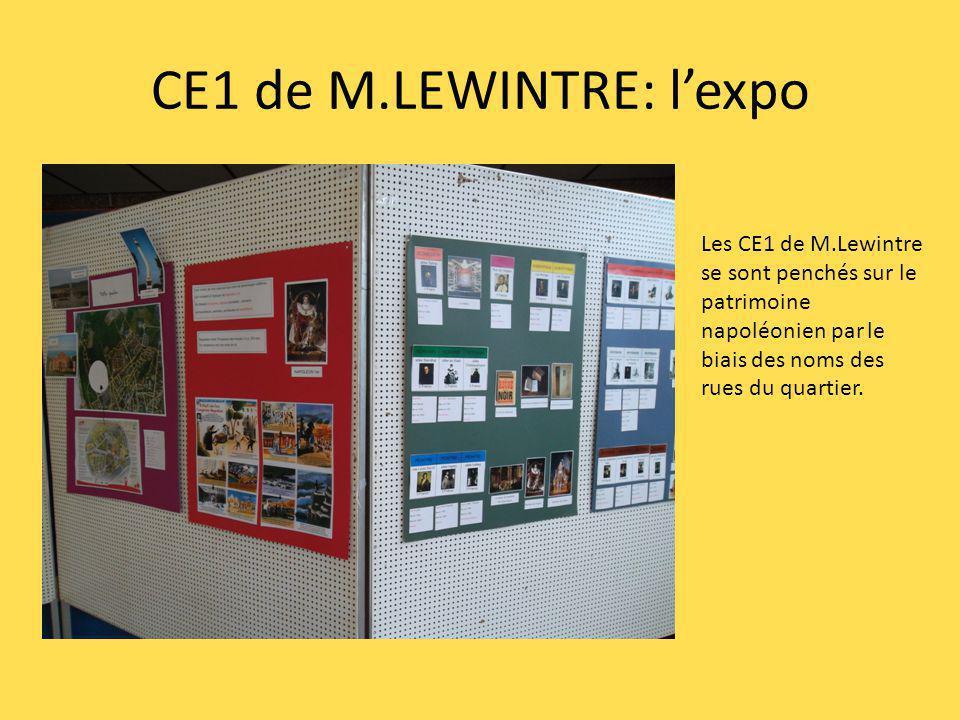 CE1 de M.LEWINTRE: l'expo