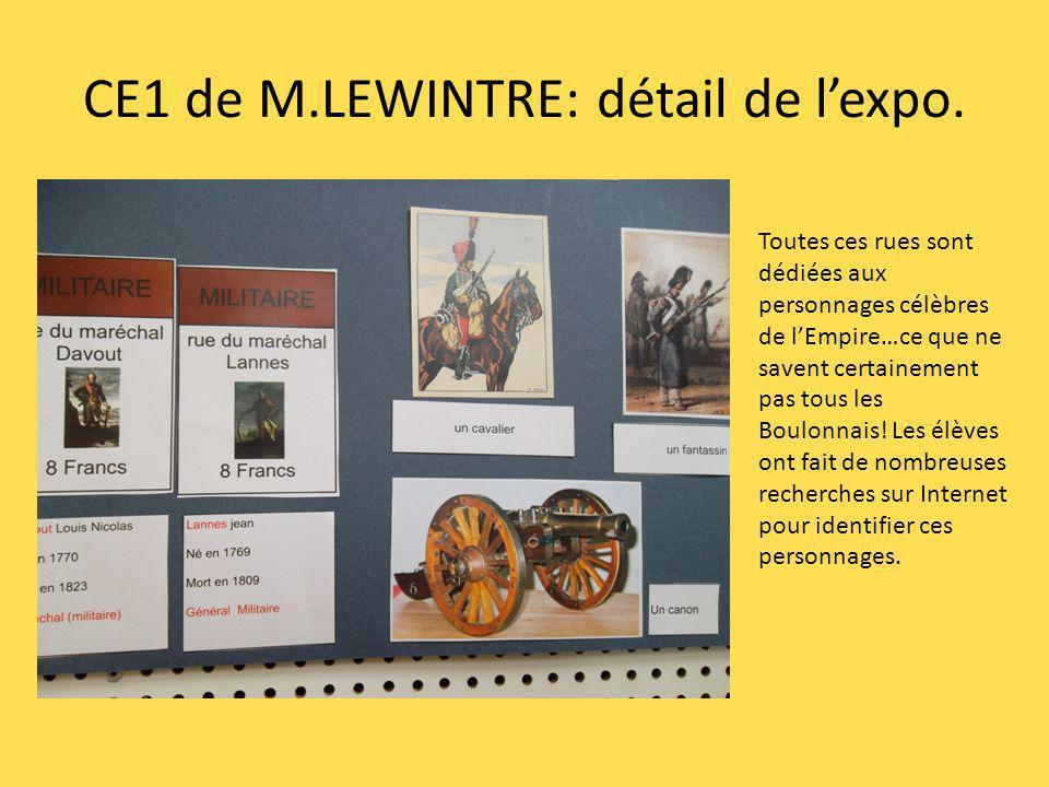 CE1 de M.LEWINTRE: détail de l'expo.