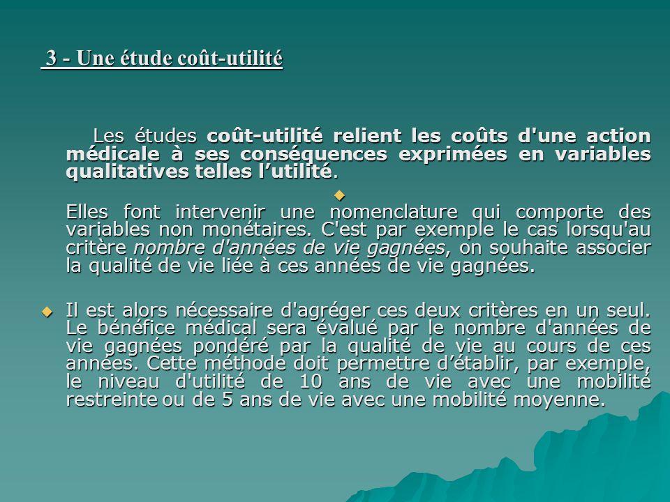 3 - Une étude coût-utilité