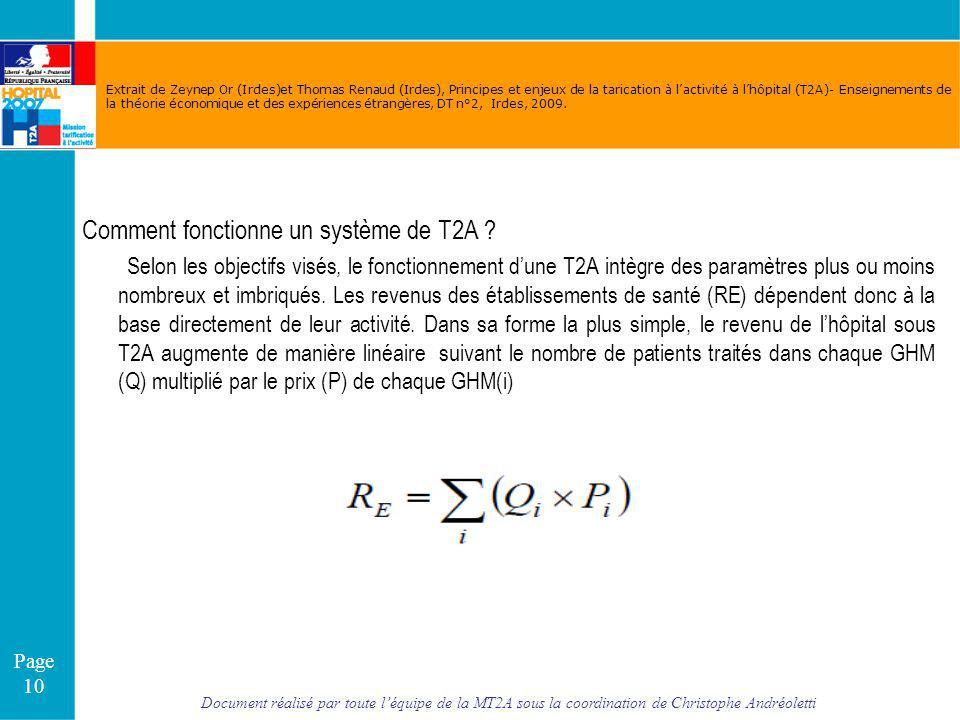 Comment fonctionne un système de T2A