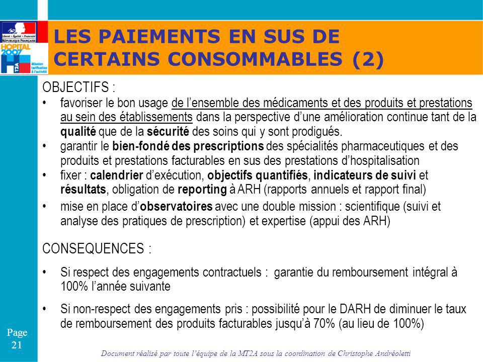CERTAINS CONSOMMABLES (2)