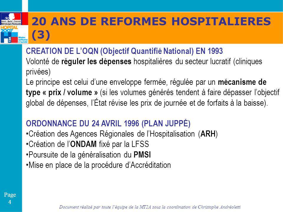 20 ANS DE REFORMES HOSPITALIERES (3)