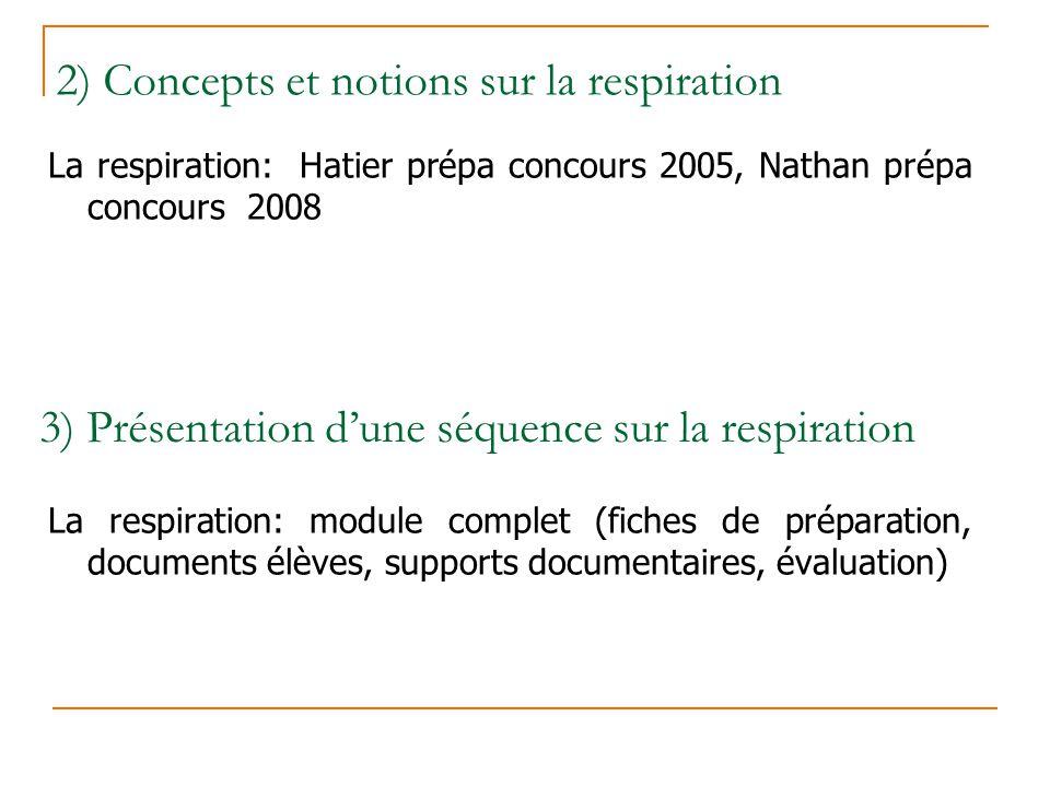3) Présentation d'une séquence sur la respiration