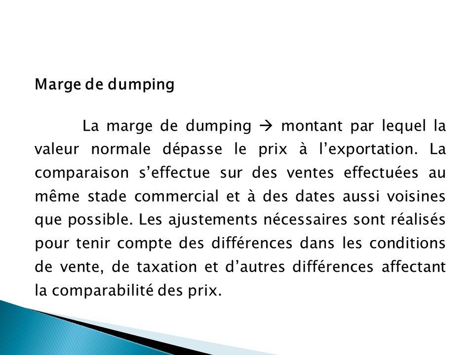 Marge de dumping