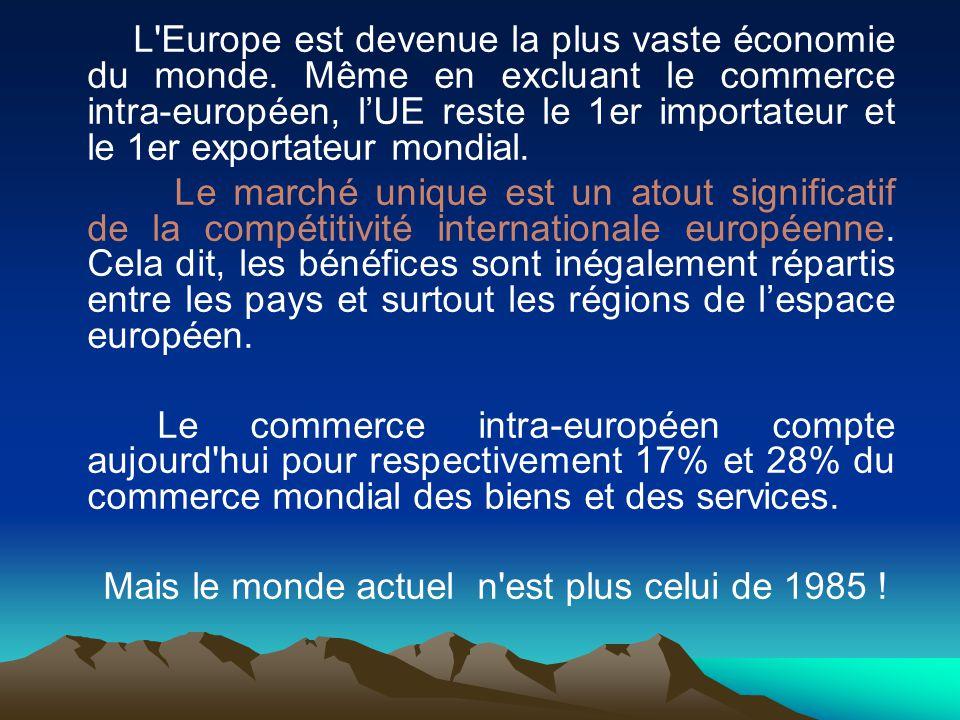 L Europe est devenue la plus vaste économie du monde