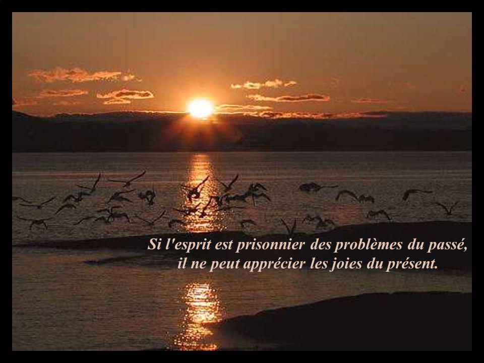 Si l esprit est prisonnier des problèmes du passé, il ne peut apprécier les joies du présent.