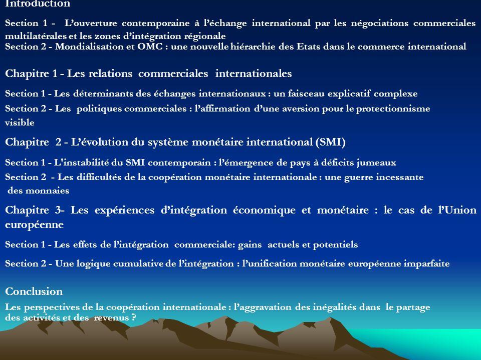 Chapitre 1 - Les relations commerciales internationales