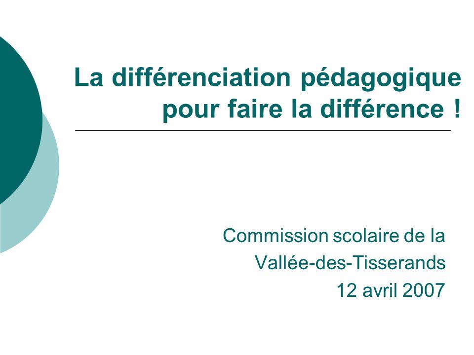 La différenciation pédagogique pour faire la différence !