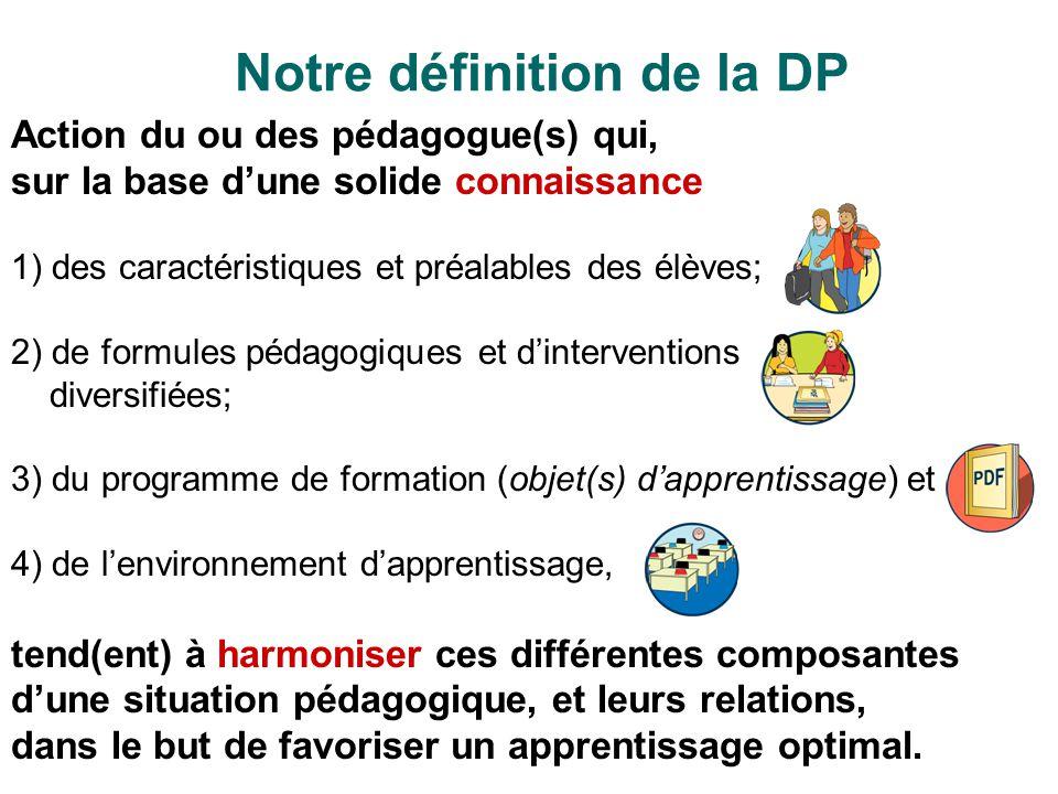 Notre définition de la DP
