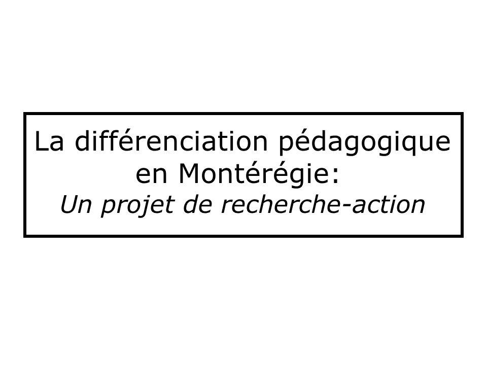 La différenciation pédagogique en Montérégie: