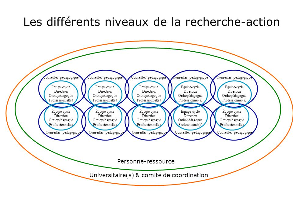 Les différents niveaux de la recherche-action