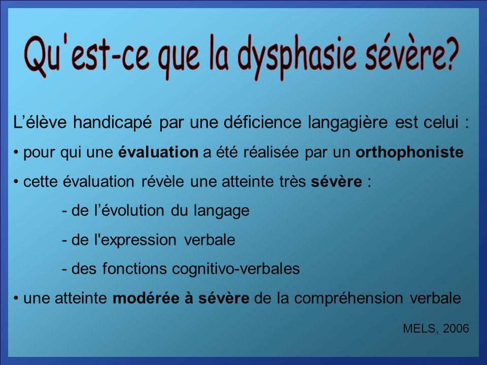 Qu est-ce que la dysphasie sévère