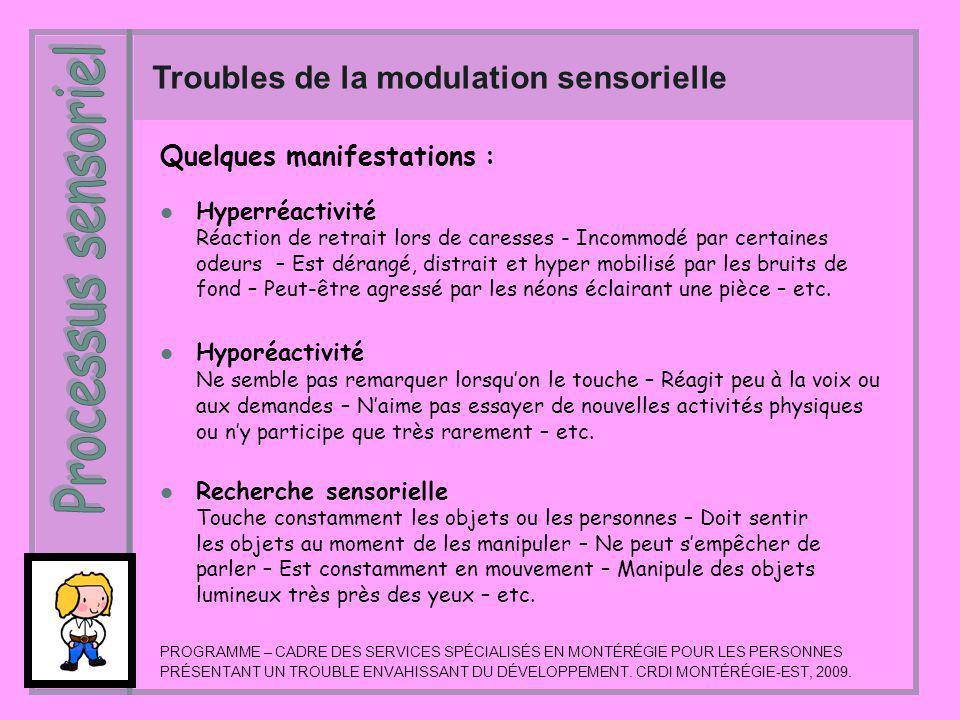 Processus sensoriel Troubles de la modulation sensorielle