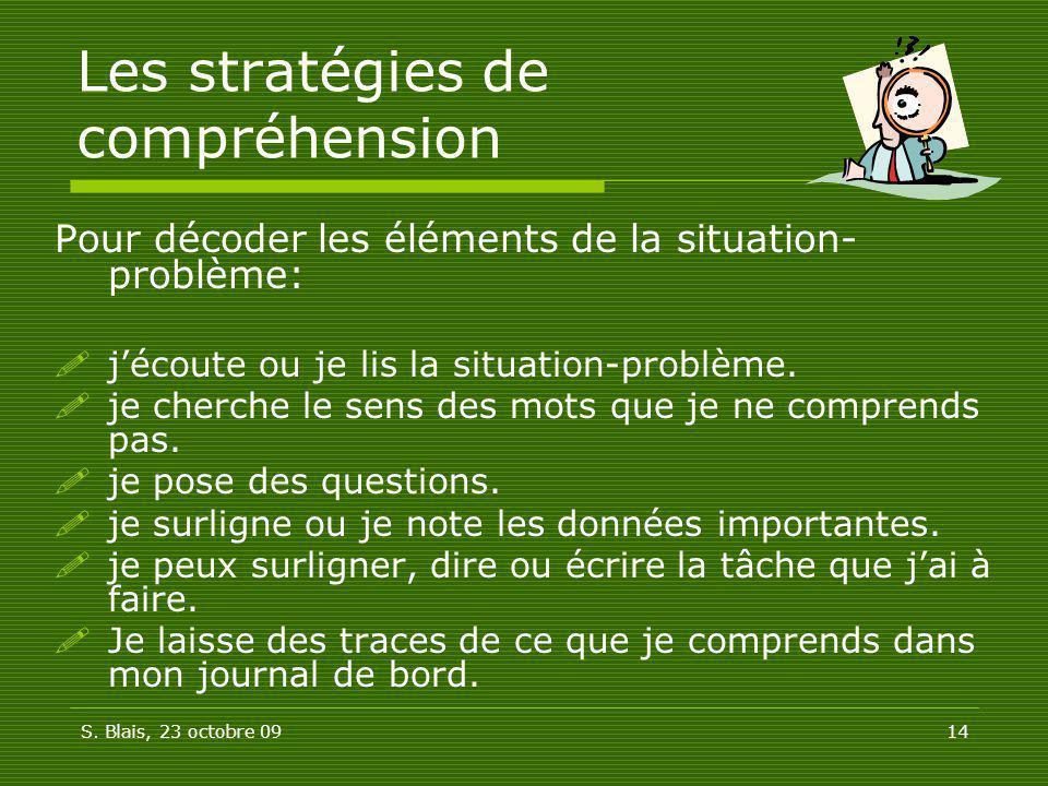 Les stratégies de compréhension