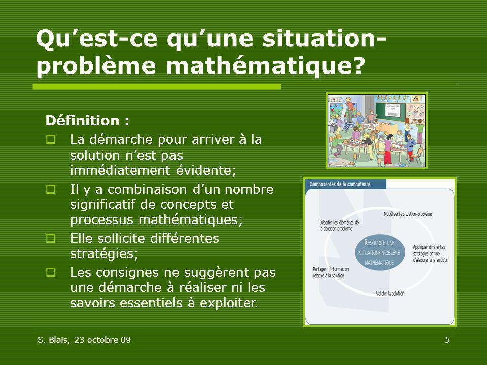 Qu'est-ce qu'une situation-problème mathématique