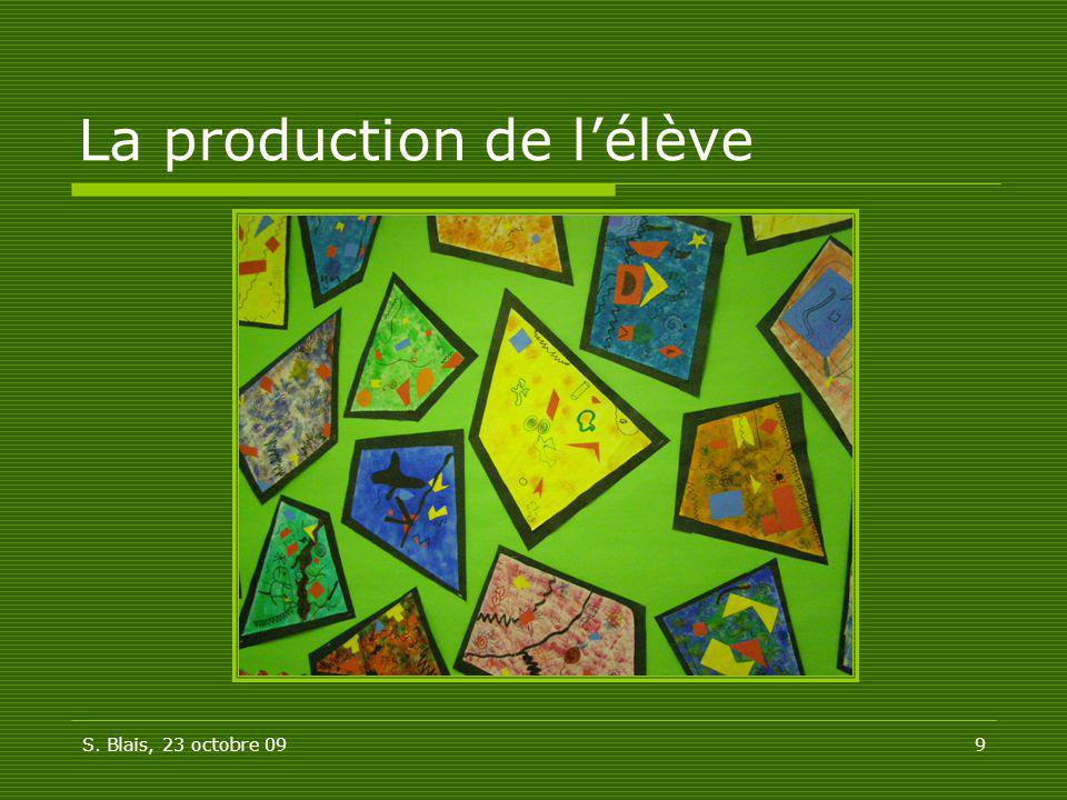 La production de l'élève