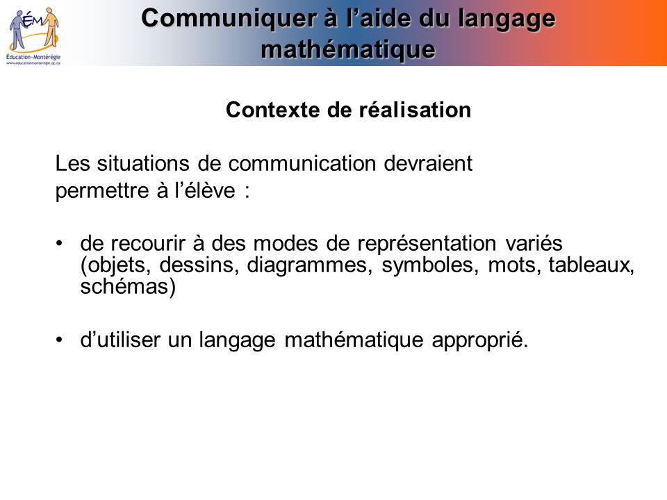 Communiquer à l'aide du langage mathématique