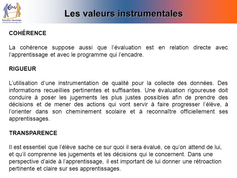 Les valeurs instrumentales