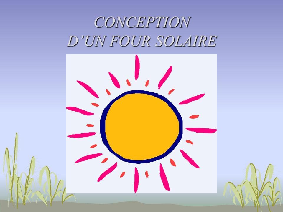 CONCEPTION D'UN FOUR SOLAIRE