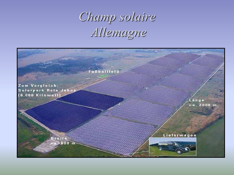Champ solaire Allemagne