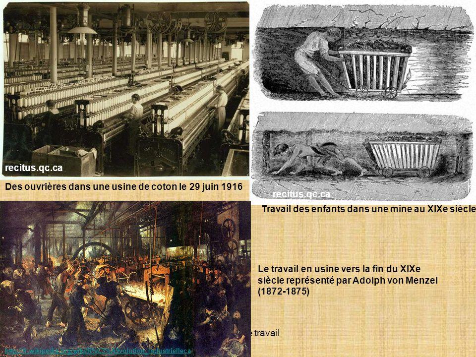 Des ouvrières dans une usine de coton le 29 juin 1916 recitus.qc.ca
