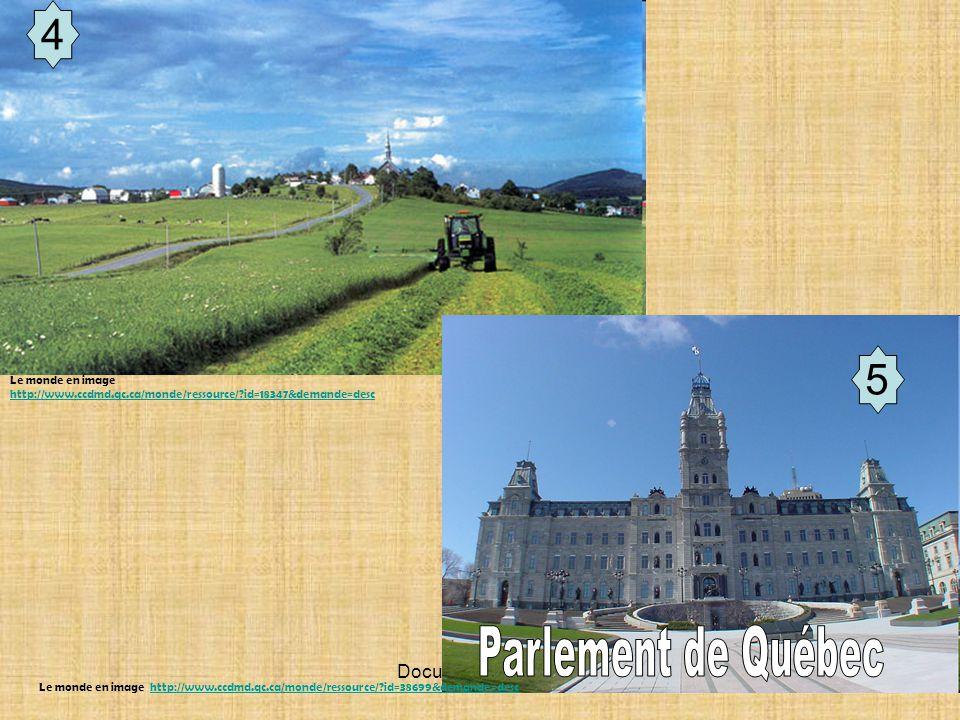 Parlement de Québec 4 5 6 Document de travail