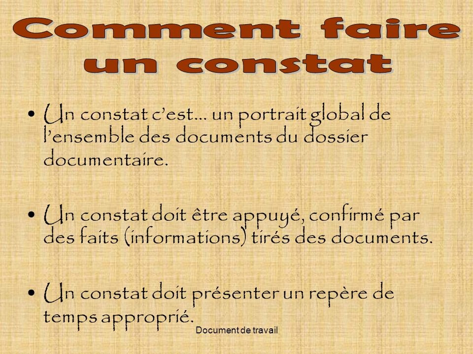Comment faire un constat