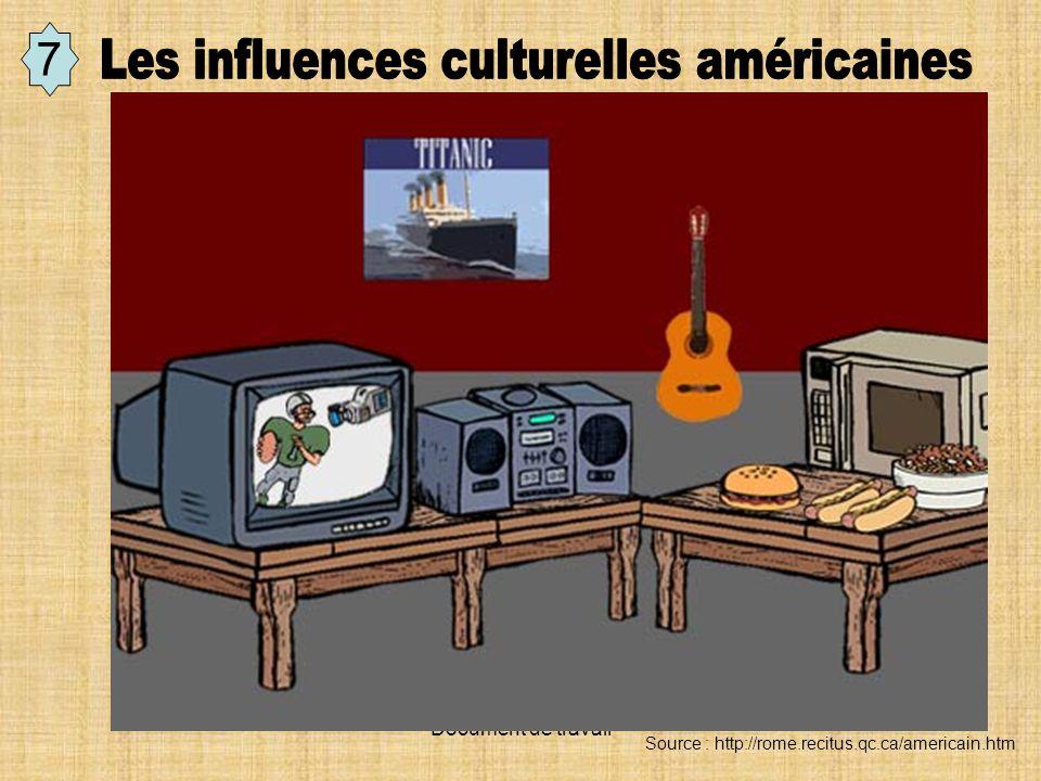 Les influences culturelles américaines