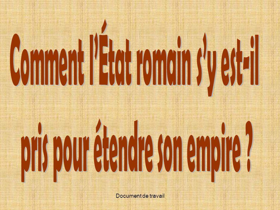 Comment l'État romain s'y est-il pris pour étendre son empire