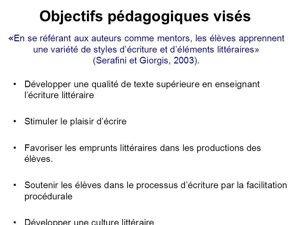 Objectifs pédagogiques visés