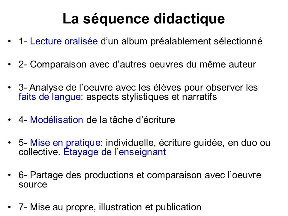 La séquence didactique