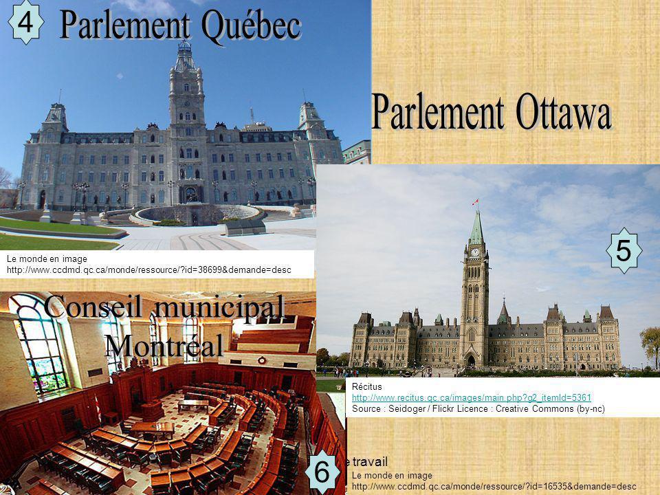 Parlement Québec Parlement Ottawa Conseil municipal Montréal 4 5 6