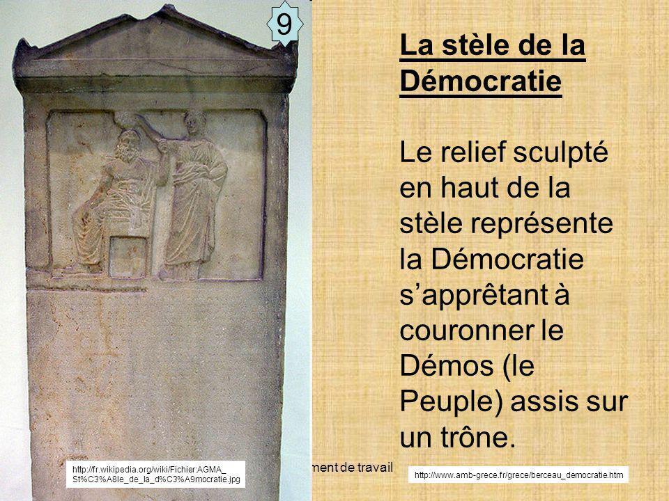 La stèle de la Démocratie