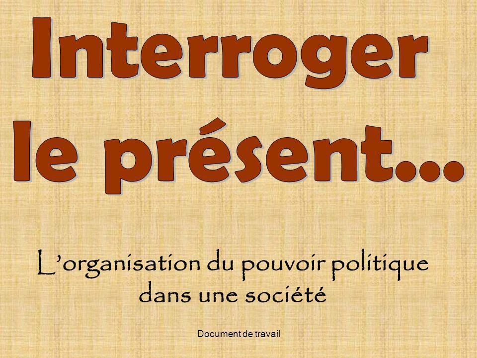 L'organisation du pouvoir politique dans une société