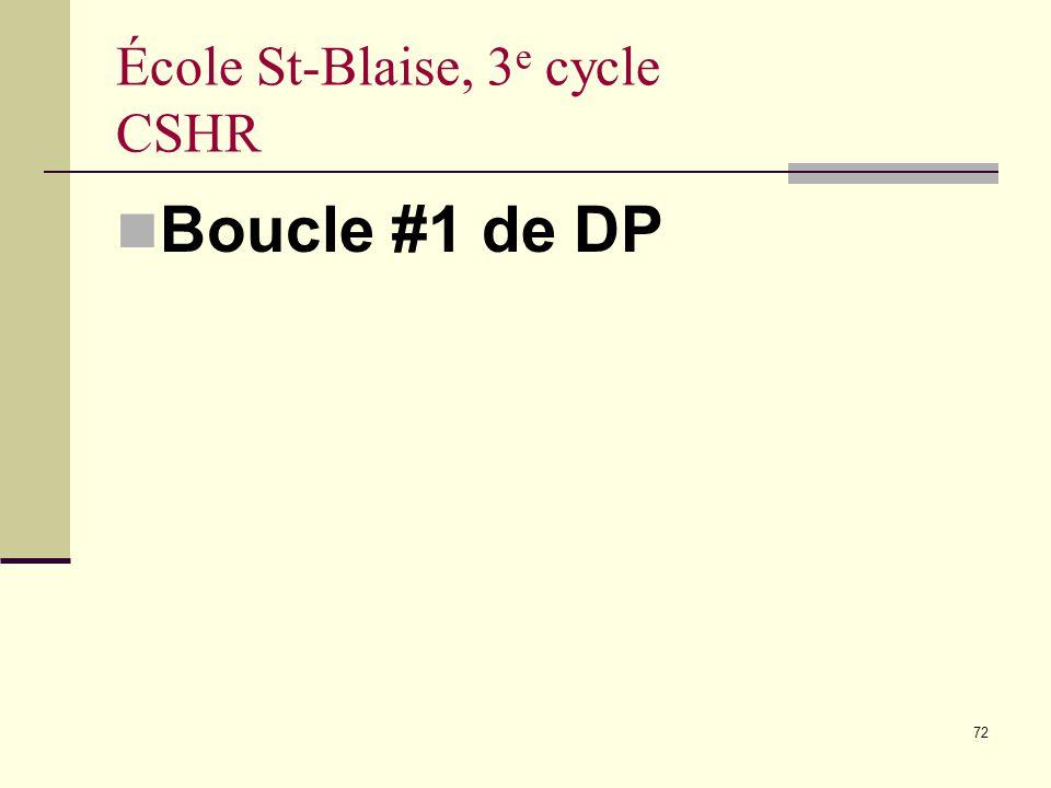École St-Blaise, 3e cycle CSHR
