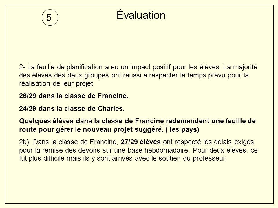 Évaluation 5.