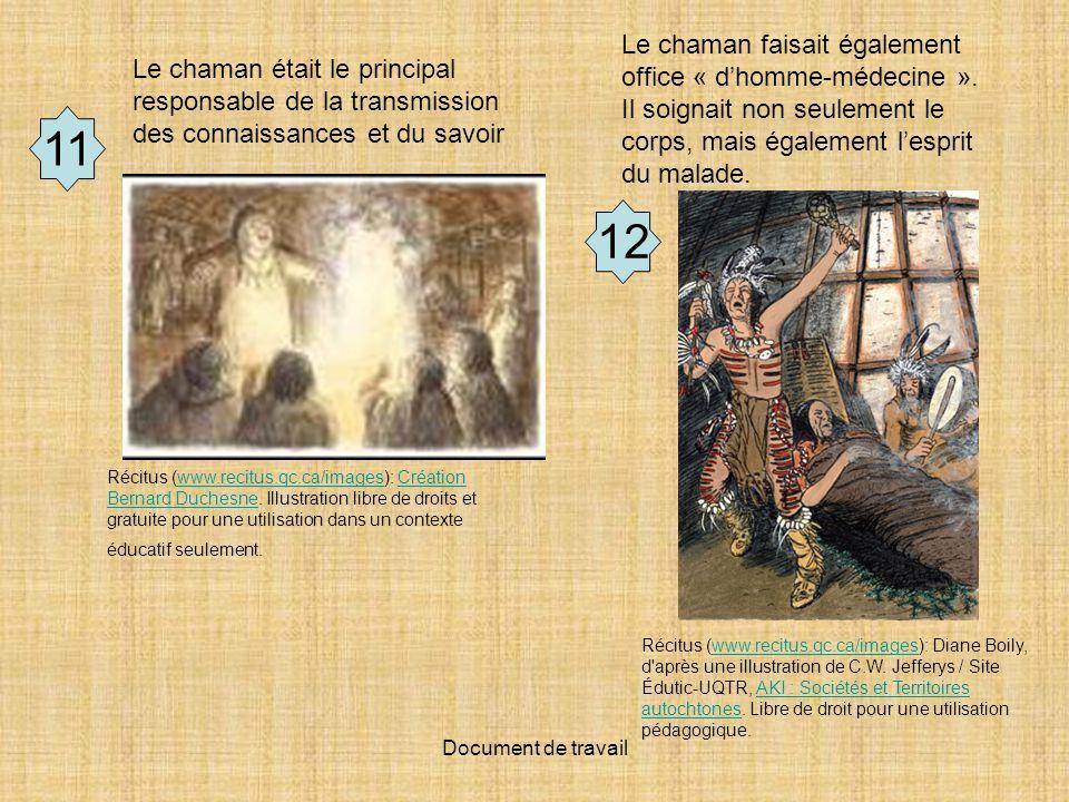 Le chaman faisait également office « d'homme-médecine »