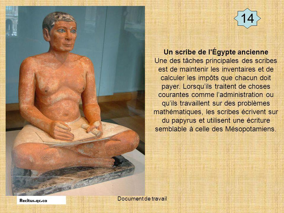 Un scribe de l Égypte ancienne