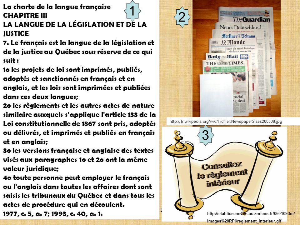 1 2 3 La charte de la langue française